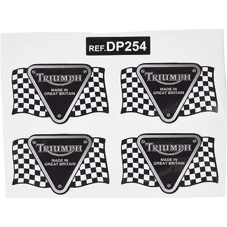 Ecoshirt 6E-165E-XAI6 Pegatinas Stickers Triumph Ref: DP254 Aufkleber Autocollants Adesivi Moto Decals, Negro, 5 cm
