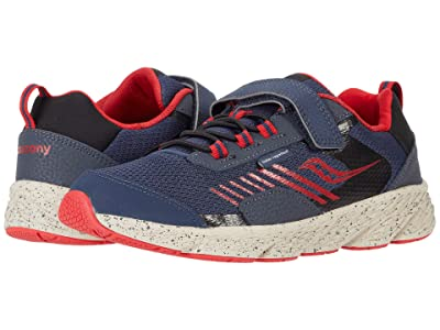 Saucony Kids S-Wind Shield A/C (Little Kid/Big Kid) (Navy/Red) Boys Shoes