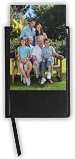 Samsill Writing Notebook Journal with Customizable Clear View Photo / Insert Pocket Cover, Hardcover, 4 Inch x 6 Inch, 120 Lined Sheets (240 Pages), Black