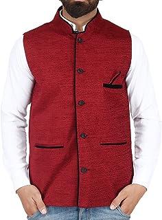 BIS Creations Maroon Waistcoat - Nehru jacket Men
