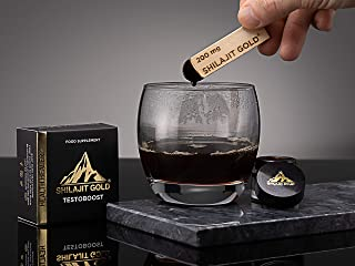 Shilajit Gold Finest Himalayan Shilajit from 16000+ Altitude. UKAS ISO 17025 Lab Tested. Fertility, Fitness, Sexual Health...