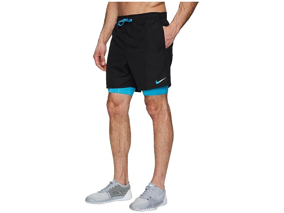Nike 5.5 Shift 2-in-1 Training Shorts (Black) Men