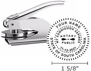 South Carolina Notary Seal Embosser, Pocket/Hand Model, 1-5/8