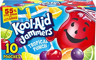 Kool-Aid Jammers Tropical Punch Flavored Juice Drink (40 Pouches, 4 Boxes of 10)