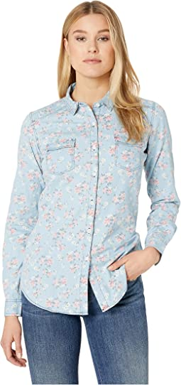 Long Sleeve Printed Button Down B4B6061