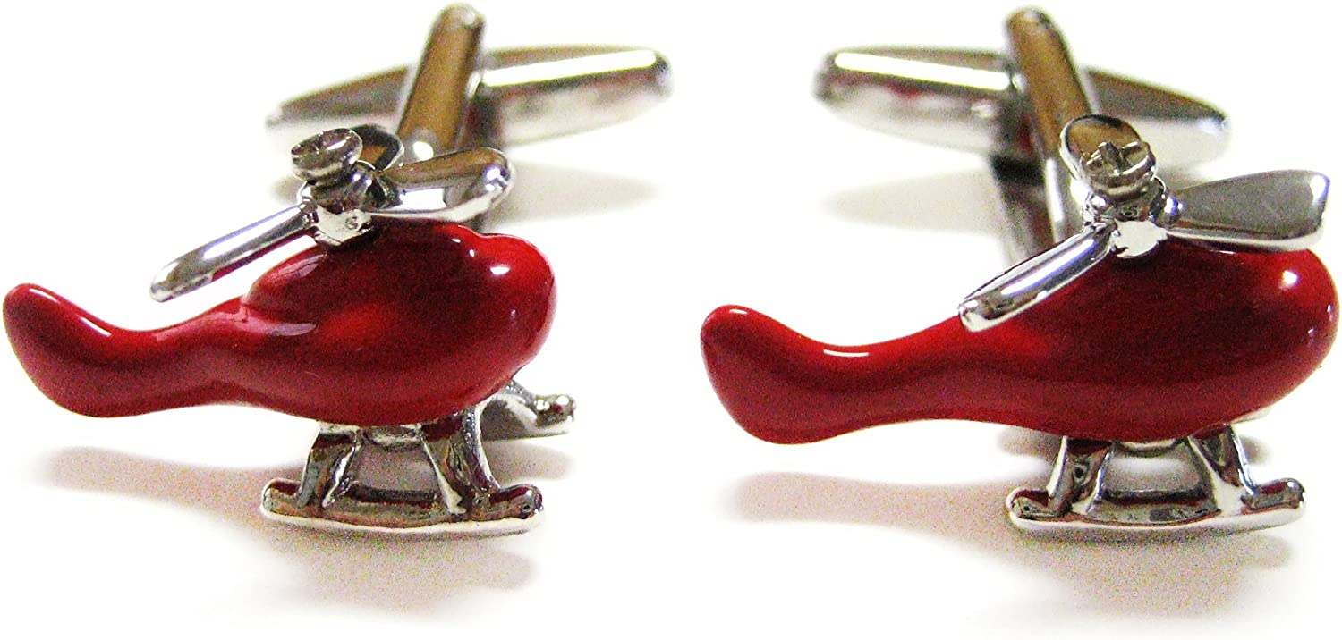 Red Helicopter Cufflinks