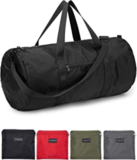 Small Duffel Bag 20 Inches Foldable Lightweight Gym Bag with Inner Pocket for Travel Sports