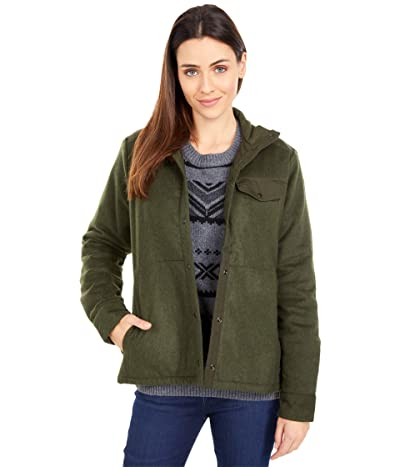 Fjallraven Canada Wool Padded Jacket (Deep Forest) Women