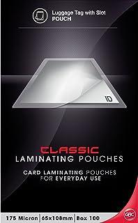 GBC BL175M65X108 Laminating Pouch, 65X108MM 175 Micron PK100