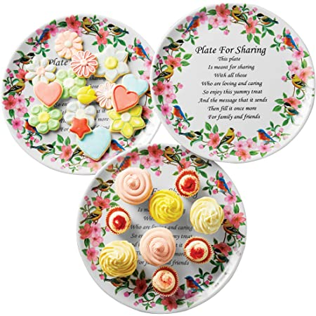 Details about  /Sets of 3 Melamine Giving Plates Christmas Holday New Year Gift Decoration dish