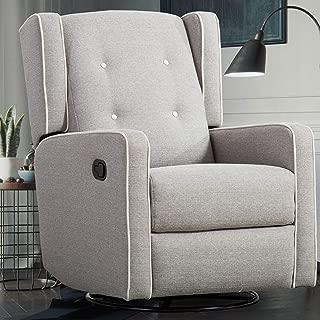 CANMOV Swivel Rocker Recliner Chair – Manual Reclining Chair, Single Seat Reclining Chair, Gray
