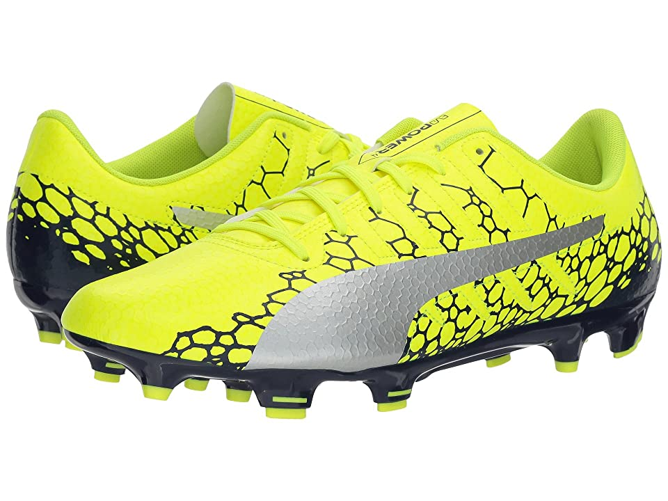 PUMA evoPOWER Vigor 4 Graphic FG (Safety Yellow/Silver/Blue Depths) Men