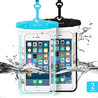 Universal Waterproof Case, CUZMAK 2 Pack Universal Dry Bag/Pouch Clear Sensitive PVC Touch Screen for iPhone X 8 7 6S Plus Galaxy S8 S7 Edge S6 S5 S4 Note 4 3 LG G5 G3 Up To 5.7