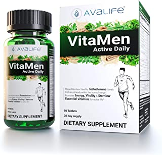 Avalife VitaMen Active Daily - Multivitamin for Men - 60 Tablets
