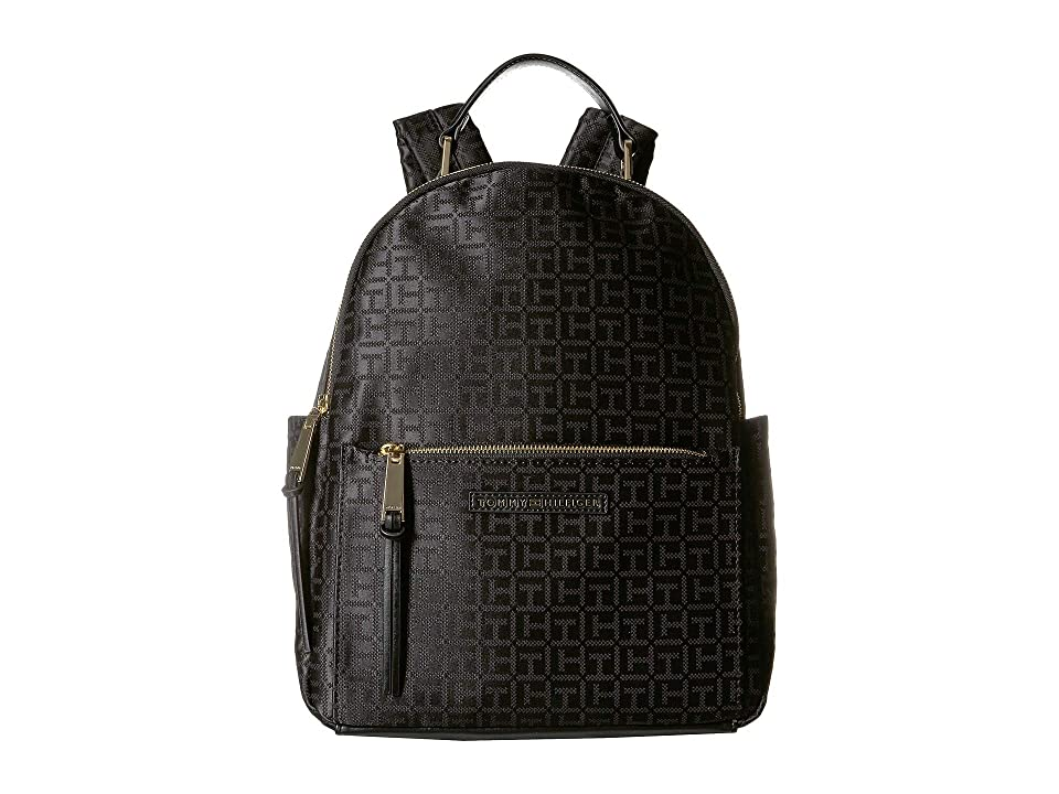 99b8e6fd5d68c Tommy Hilfiger Althea Backpack (Black Tonal) Backpack Bags