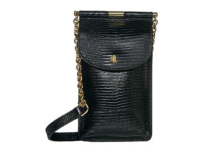 LAUREN Ralph Lauren Phone Bag Crossbody Mini (Black) Cross Body Handbags