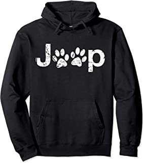 Funny Jeep Paw Prints Dogs Jeeps Lovers Distressed Hoodie