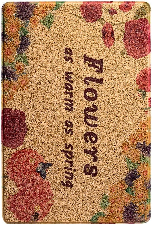 WENRAN Bead Waterproof Anti Slip Modern Carpet,Doormat to Clean Your shoes Doormat for Hall Kitchen-C 60x120cm(24x47inch)