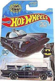 Hot Wheels Batman 5/5, Black/Blue TV Series Batmobile 307/365 50TH Anniversary Card