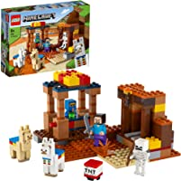 LEGO 21167 Minecraft De Handelspost Bouwset met Poppetjes van Steve en Skelet, Constructiespeelgoed voor Kinderen vanaf...
