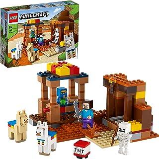 LEGO 21167 Minecraft De Handelspost Bouwset met Poppetjes van Steve en Skelet, Constructiespeelgoed voor Kinderen vanaf 8 ...