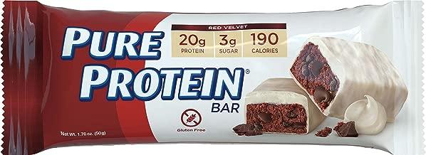 Pure Protein Bars, Gluten Free, Red Velvet, 1.76 oz, 6 Count