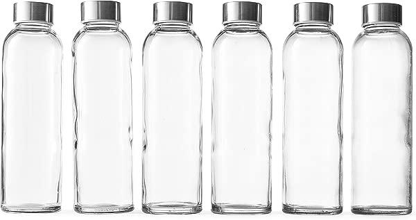 Epica 18 Oz Glass Beverage Bottles Set Of 6