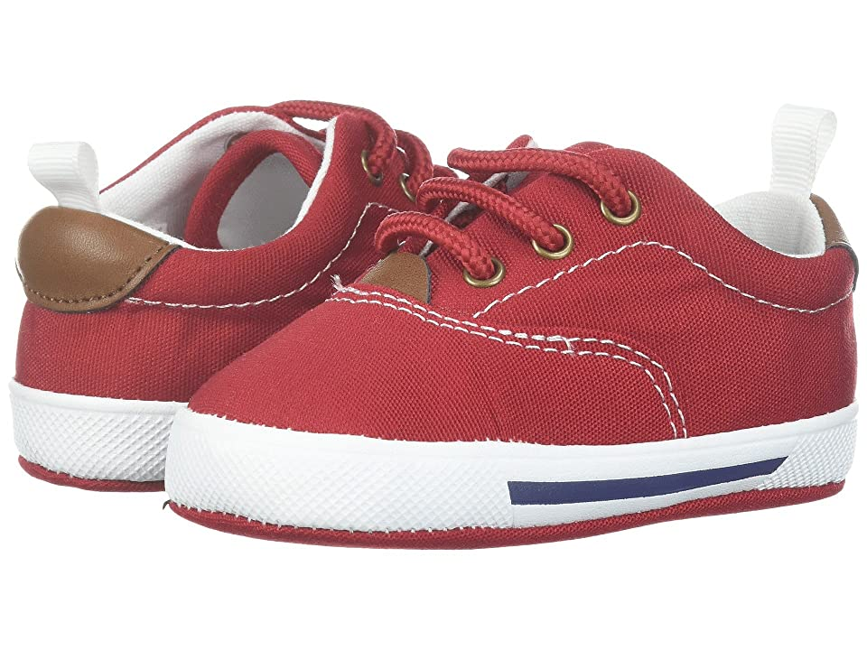 Baby Deer Soft Sole Lace-Up Sneaker (Infant) (Red) Kid