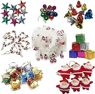 Krisah Plastic Christmas Mini Ornaments Decoration 99 pcs Set