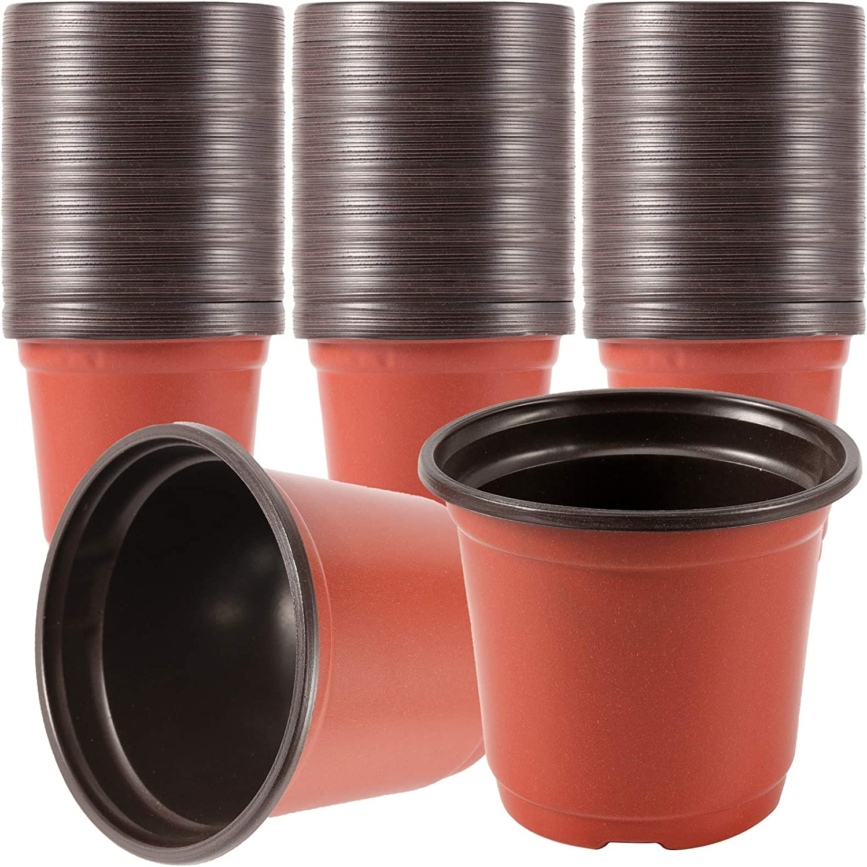 KEILEOHO Sale price 180 Packs 6 Inches Plastic Pots Plants Nursery Plant P Tulsa Mall