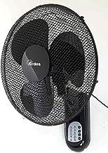 Ardes AR5W40R Ventilateur mural COOL RC oscillant à mur, pelle 40 cm, avec télécommande, 3 niveaux de vitesse, minuterie, ...