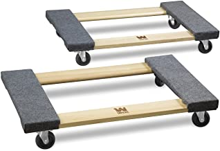 WEN 721830 1320-Pound Capacity Hardwood Mover's Dolly, 2-Pack