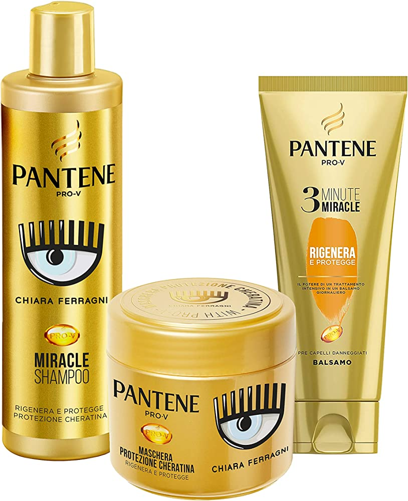 Pantene pro-v by chiara ferragni balsamo piu` maschera rigenerante piu` shampoo edizione limitata