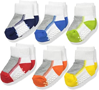 Jefferies Socks Baby Boys' Boy Performance Tech Quarter 6 Pair Pack Socks