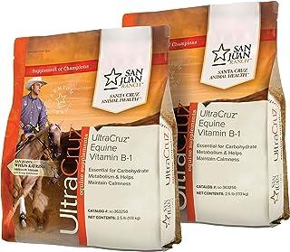 UltraCruz Equine Vitamin B-1 Horse Supplement Pellet Bundle, 2 x 2.5 lb (40 Day Supply) Each