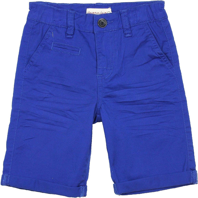 Deux par Deux Boys' Blue Twill Bermuda I Believe I Can Fly, Sizes 18M-6