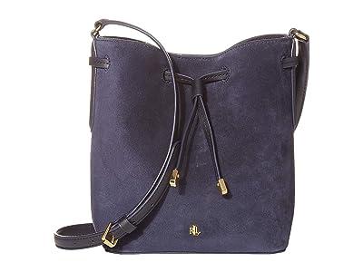 LAUREN Ralph Lauren Debby II Drawstring Mini (Lauren Navy) Handbags