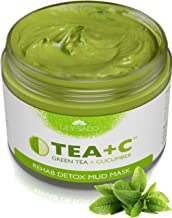 LILY SADO Green Tea Mask - Natural Organic Vegan Facial Mask - Anti-Aging, Antioxidant Defense Against Acne, Blackheads & Wrinkles for a Luscious, Soft Glowing Complexion - Best Mud Mask for Acne