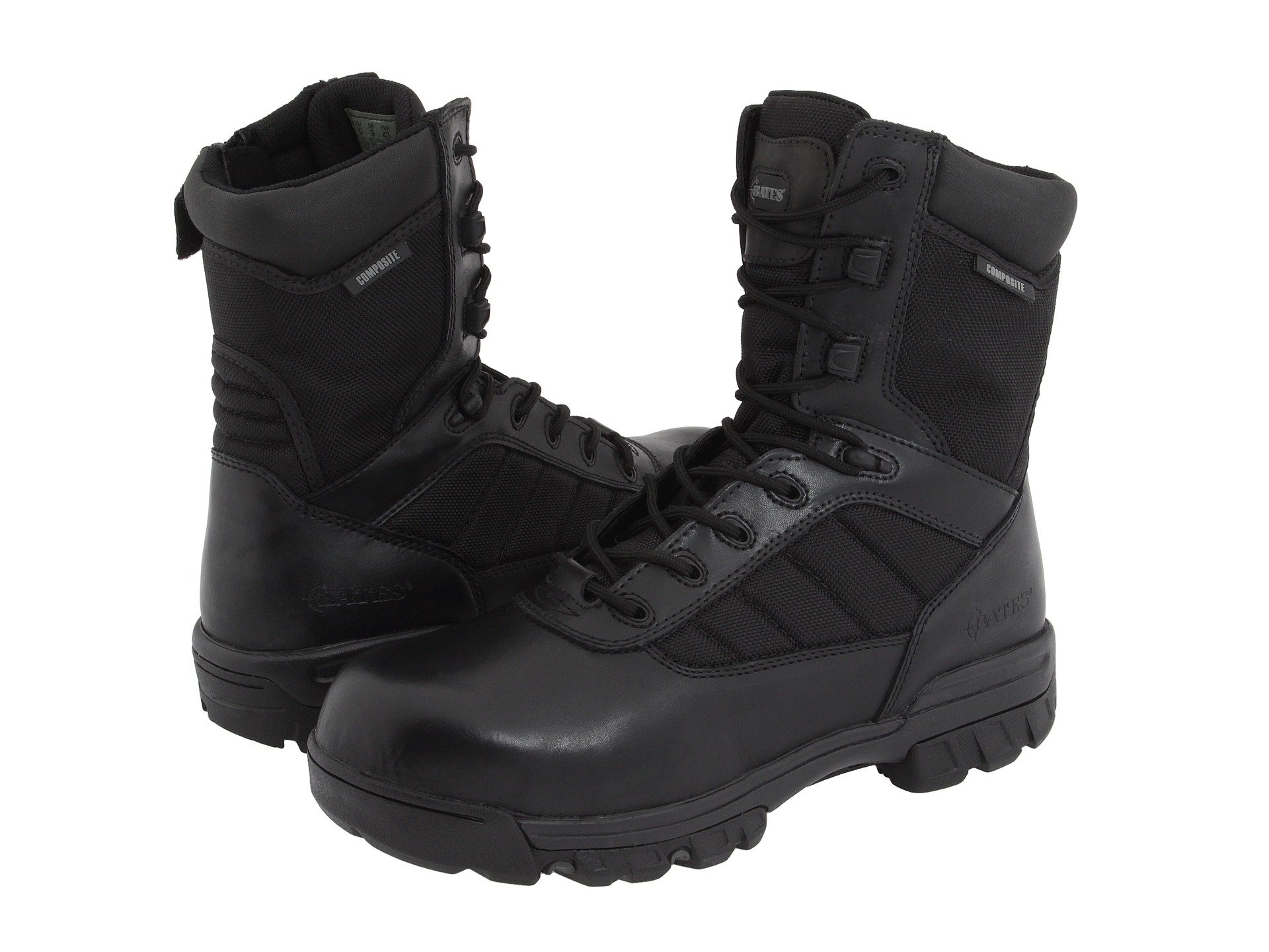 bates toe chaussures 8 & # 34; tactique composite de toe bates côté zip sport 8fe117