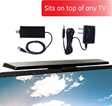 $29 » [2020 Version] GE HD Amplified TV Antenna, Easy Mount to Top of TV Design, Long Range, Supports 4K 1080P Digital HDTV VHF UHF, Included Amplifier Signal Booster, AC Adapter, 5 ft. Coax, Indoor, 37075