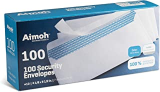 #10 Security Tinted Self-Seal Envelopes - No Window - EnveGuard, Size 4-1/8 X 9-1/2 Inches - White - 24 LB - 100 Count (34...