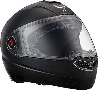 Steelbird SBA-1 Classic 7WINGS Full Face Helmet with Plain Visor (Medium 580 MM, Black)