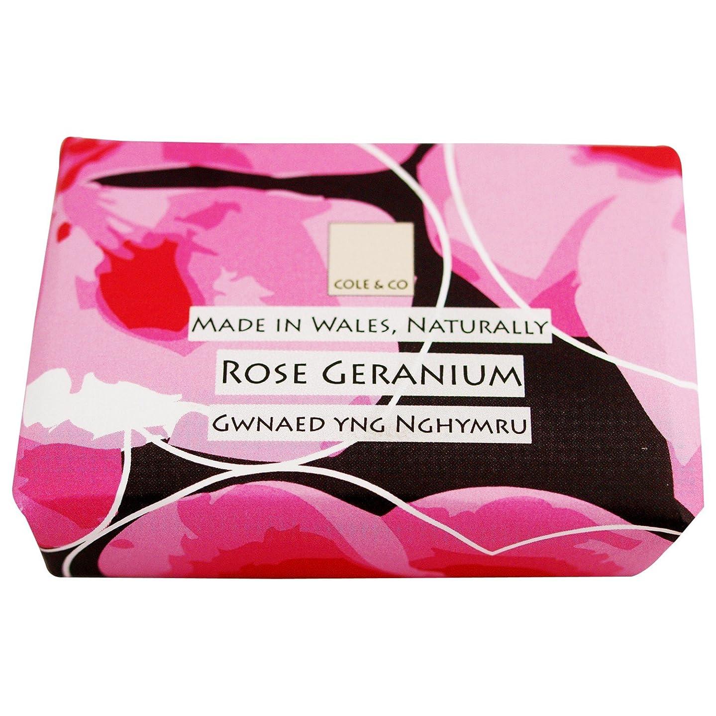 自伝ファイタークスココール&Coはゼラニウム石鹸80グラムのバラ (Cole & Co) - Cole & Co Rose Geranium Soap 80g [並行輸入品]