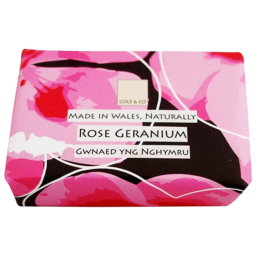 ぺディカブ少数要旨コール&Coはゼラニウム石鹸80グラムのバラ (Cole & Co) - Cole & Co Rose Geranium Soap 80g [並行輸入品]
