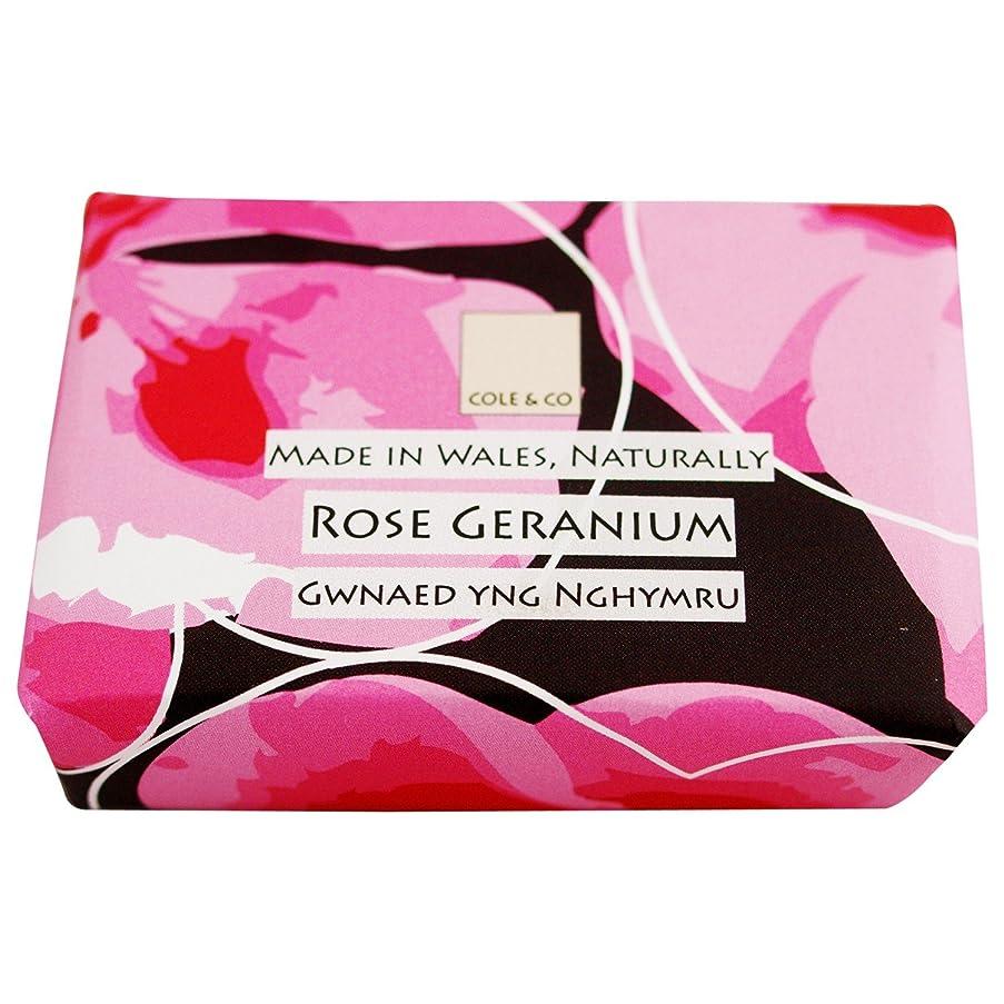 膨らみ音楽を聴く同封するコール&Coはゼラニウム石鹸80グラムのバラ (Cole & Co) (x6) - Cole & Co Rose Geranium Soap 80g (Pack of 6) [並行輸入品]