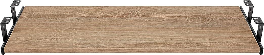 FIX&EASY Ladegeleiders voor toetsenbordlade met plank 600X300mm sonoma eiken decor, geleiderails zwart 300mm, complete set...