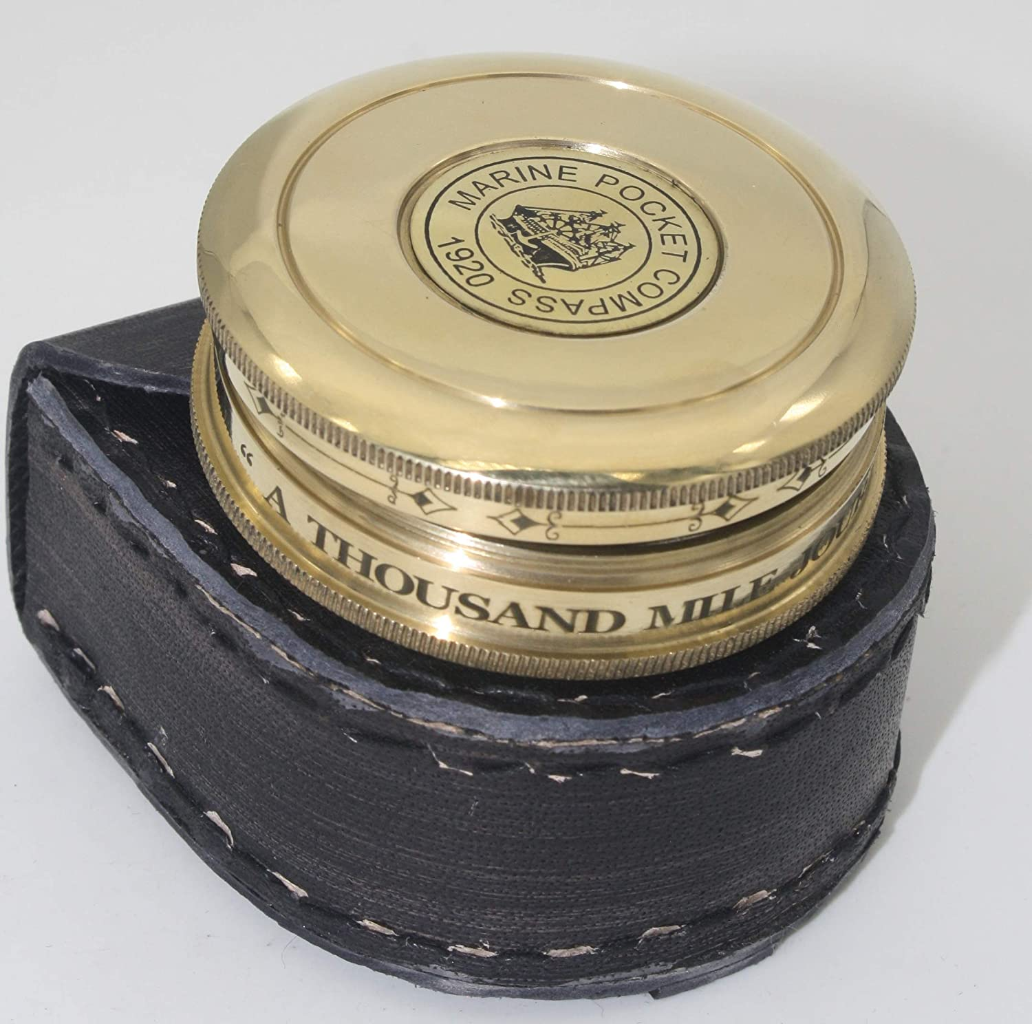 Delhi arts Robert Frost Poem Courier shipping free shipping Leather Compass case Engraved with Max 42% OFF