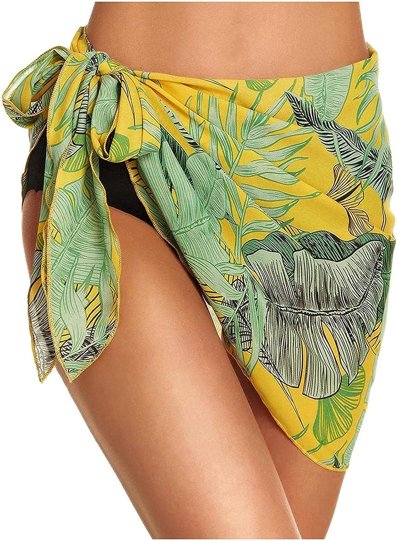 JNBGYAPS Woman Swimming Suit,Women Short Sarongs Beach Wrap Sheer Bikini Wraps Chiffon Cover Ups for Swimwear Beachwear Swim Suits Women Clothing Yellow