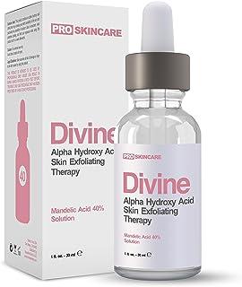 Mandelic Acid Peel 40% Chemical Peel For Rosacea, Cystic Acne, Blackheads, Large Pores, Whiteheads, Hyperpigmentation, Melasma, Age Spots, Sun Spots (1 fl oz)