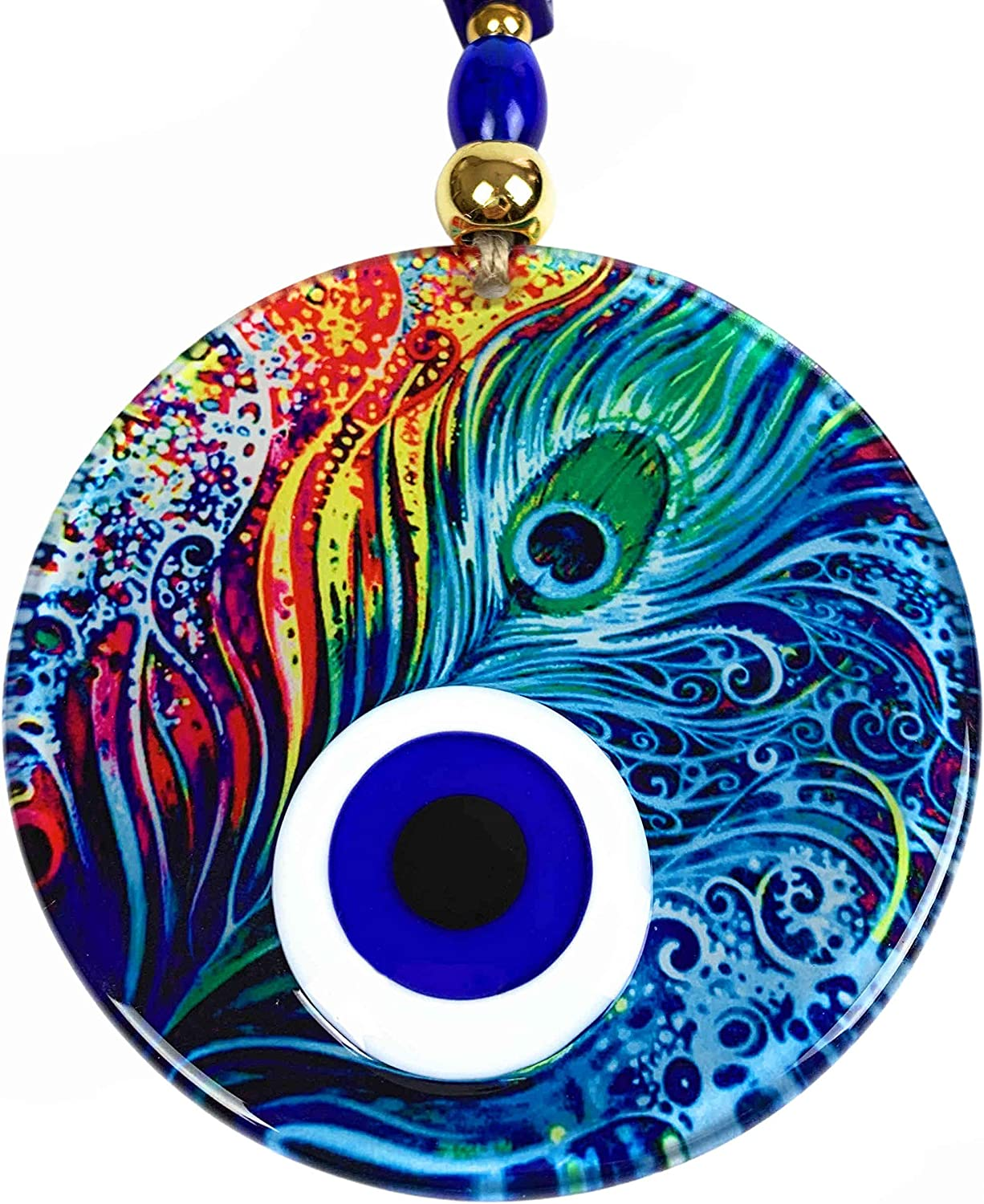 BCS Amazing Colorful Evil Eye Decor Home Wall Hanging 4.7